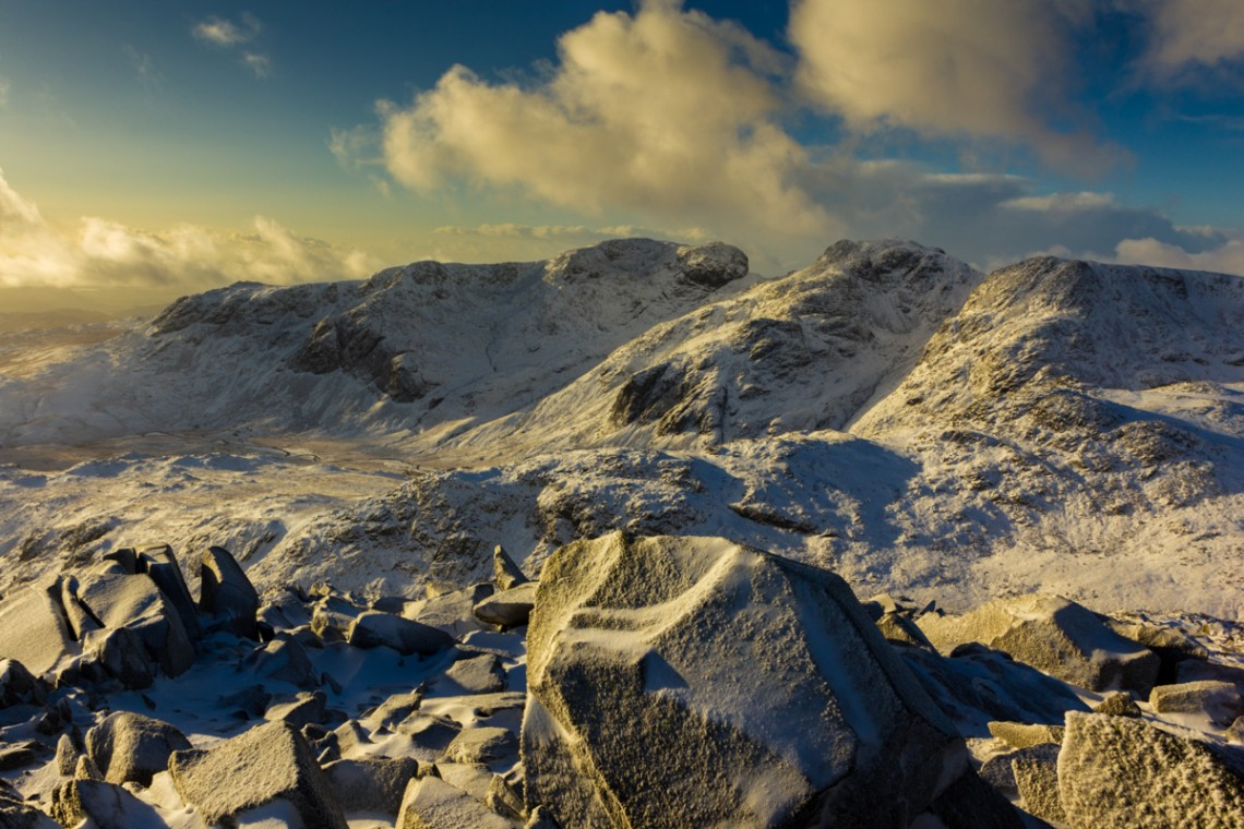 Scafell from Bowfell, Lake District