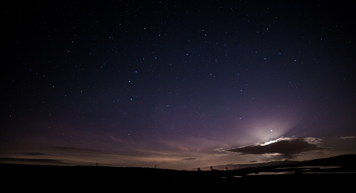 Aurora and Moon, Brecon Beacons