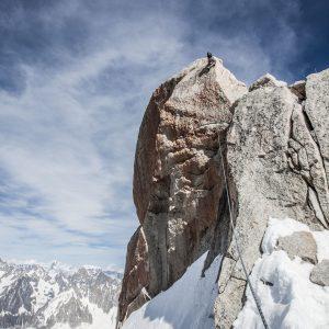 Climber on Aiguille du Midi – Print