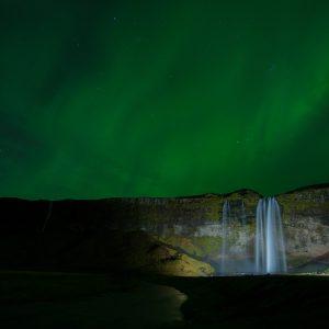 Seljalandfoss with Aurora – Print